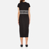KENZO Women's Stripe Logo Mid Cotton Dress - Black: Image 3