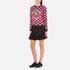KENZO Women's All Over Print Nagai Tanami Flower Logo Sweatshirt - Red: Image 4