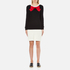 Boutique Moschino Women's Red Bow Jumper Dress - Black: Image 1