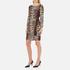 Boutique Moschino Women's Zip Pleat Dress - Leopard: Image 4