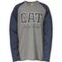 Caterpillar Men's Rugged Baseball T-Shirt - Grey: Image 1