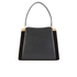 Lulu Guinness Women's Collette Large Leather and Suede Shoulder Bag - Black: Image 6