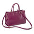 Lulu Guinness Women's Daphne Medium Smooth Leather Tote - Cassis: Image 3