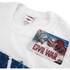 Marvel Men's Captain America Civil War A-Wings T-Shirt - White: Image 3