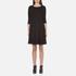 BOSS Orange Women's Dipleat Jersey Dress - Black: Image 1