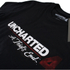 Unchartered 4 Mens Logo Heren T-Shirt - Zwart: Image 2