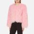 Charlotte Simone Women's Classic Fuzz Jacket - Pink - S/M: Image 2