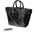 Aspinal of London Women's Marylebone Medium Croc Tote - Black Croc: Image 3