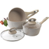 Salter Marble Collection 3 Piece Pan Set Sand: Image 2