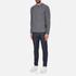 Barbour Heritage Men's Barnard Cable Knitted Jumper - Denim Mix: Image 4