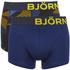 Bjorn Borg Men's Twin Pack Camo Boxer Shorts - Total Eclipse: Image 1