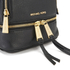 MICHAEL MICHAEL KORS Rhea Zip Small Crossbody Backpack - Black: Image 4