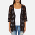 Superdry Women's Willow Crochet Kimono - Black: Image 1