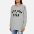 Maison Scotch Women's Wish Upon A Star Boxy Fit Sweatshirt - Grey: Image 2
