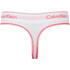 Calvin Klein Women's Modern Cotton Thong - White/Bright Nectar: Image 2