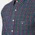 GANT Men's Small Indigo Tartan Shirt - Indigo: Image 5