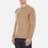 GANT Men's Donegal Crew Neck Knitted Jumper - Dark Sand Melange: Image 2