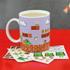 Super Mario Bros. Build A Level Mug - Blue: Image 1