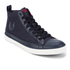 Polo Ralph Lauren Men's Clarke Canvas Hi-Top Trainers - Newport Navy: Image 2
