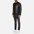 HUGO Men's Lesson Leather Biker Jacket - Black: Image 4
