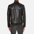 HUGO Men's Lesson Leather Biker Jacket - Black: Image 3