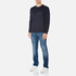 HUGO Men's Dapone Logo Crew Neck Sweatshirt - Navy: Image 4