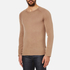 HUGO Men's San Francisco Cotton Silk Cashmere Jumper - Light/Pastel Brown: Image 2