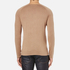 HUGO Men's San Francisco Cotton Silk Cashmere Jumper - Light/Pastel Brown: Image 3