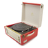 GPO Retro Bermuda Classic Style Turntable with MP3, USB, Built-In Speakers and Removable Legs - Red/Cream: Image 3