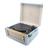 GPO Retro Bermuda Classic Style Turntable with MP3, USB, Built-In Speakers and Removable Legs - Blue/Cream: Image 3