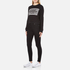 Cheap Monday Women's Win Stripe Logo Sweatshirt - Black: Image 4