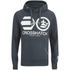 Crosshatch Men's Quon Kangeroo Pocket Hoody - Total Eclipse: Image 1
