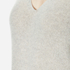 Theory Women's Adrianna Cashmere Jumper - Soft Grey/Moss: Image 5
