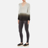 Theory Women's Adrianna Cashmere Jumper - Soft Grey/Moss: Image 4