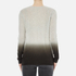 Theory Women's Adrianna Cashmere Jumper - Soft Grey/Moss: Image 3