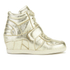 Ash Kids' Babe Metal Rock Wedged Hi Top Trainers - Platine: Image 1