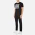 BOSS Green Men's Tee 8 Raised Print T-Shirt - Black: Image 4