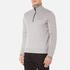 BOSS Green Men's Quarter Zip Sweatshirt - Grey: Image 2