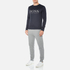 BOSS Green Men's Salbo Logo Sweatshirt - Blue: Image 4
