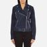 Gestuz Women's Daya Suede Biker Jacket - Blue: Image 1