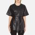Gestuz Women's Sash Leather Kimono - Black: Image 1