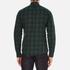 J.Lindeberg Men's Daniel Soft Check Shirt - Green: Image 3