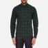 J.Lindeberg Men's Daniel Soft Check Shirt - Green: Image 1
