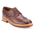 Grenson Men's Archie Pull Up Leather Brogues - Chestnut: Image 2