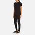 Helmut Lang Women's Medium Weight Cotton Jersey Slash Hem T-Shirt - Black: Image 4