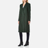 PS by Paul Smith Women's Double Breasted Wool Cashmere Coat - Green: Image 2