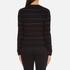 PS by Paul Smith Women's Fine Stripe Jumper - Black: Image 3