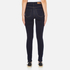 Vero Moda Women's Nine High Waisted Denim Jeans - Dark Blue Denim: Image 3