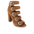 Kendall + Kylie Women's Evie Suede Strappy Heeled Sandals - Modern Cognac: Image 2