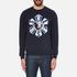 Versus Versace Men's Large Logo Crew Sweatshirt - Blu-Stampa: Image 1